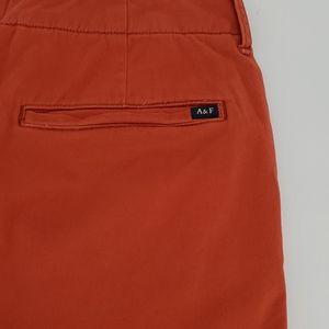 Abercrombie Orange Flat Front Shorts Size …